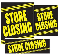 Store Closing Sign Kit- 20 pieces