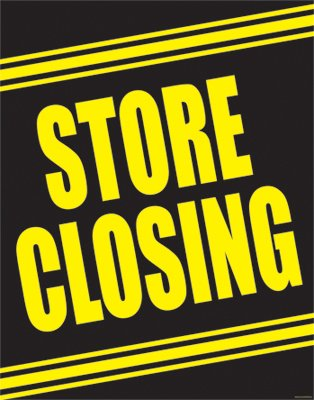 "Store Closing Standard Posters- 22""W x 28""H - 4 per pack"