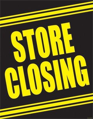 "Store Closing Window Signs Poster-36"" W x 48"" H"
