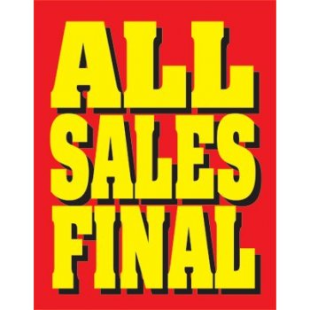 All Sales Final Standard Posters-Floor Stand Sign