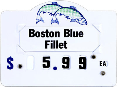 Seafood Dial Price Tags - 5 pieces