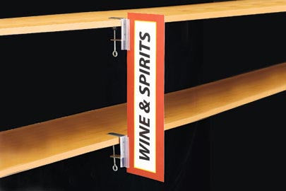 Wine & Spirit Aisle Invader Sign Holders-C-Clamp- 4 pieces