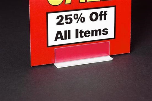 Economical Sign Holders with Adhesive Base- 25 pieces