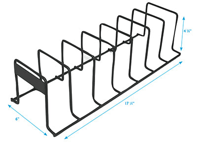 Shelf Organizers-Black Wire- 10 pieces