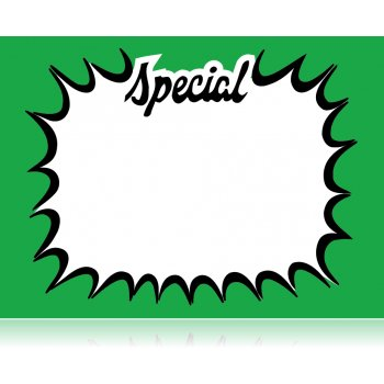 "Special Starburst Shelf Signs 7""W x 5.5""H -100 signs"