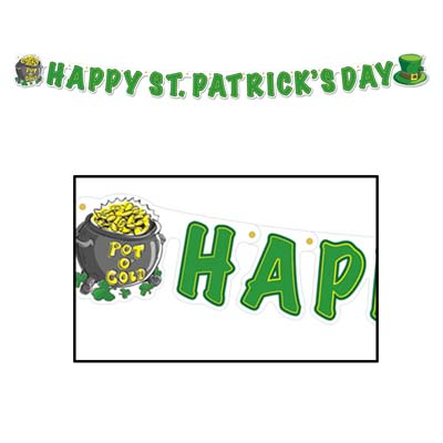 St. Patrick's Day Streamers-12 pcs