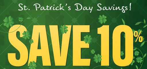 "St. Patrick's Day Sale End Cap-Gondola Signs- 36"" W x 18"" H"