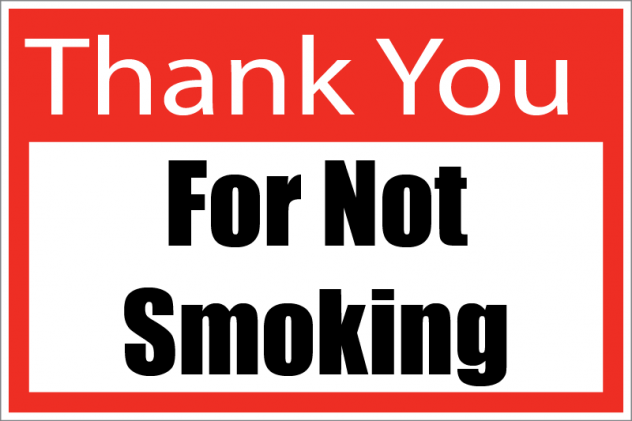 Thank You for No Smoking Store Policy Signs- 4 pieces