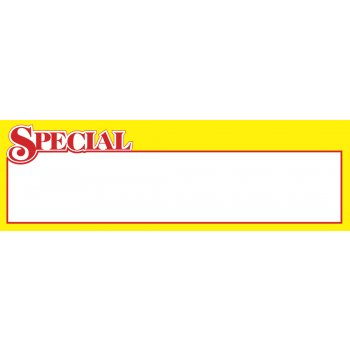 "Special Shelf Signs-Price Cards-11""W x 3.5""H-100 signs"