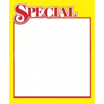 "Special Shelf Signs Retail Price Cards-3.5""W x 4.25""H -100 signs"