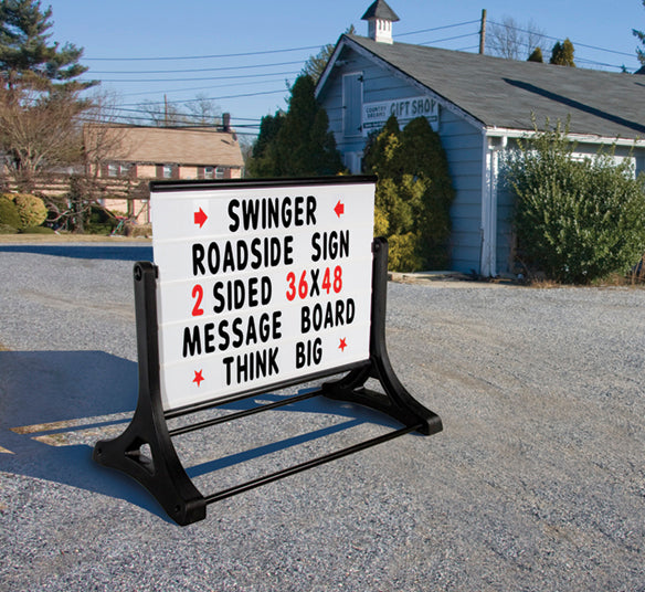 Roadside Sign Standard Swinger Changeable Message Board Sign