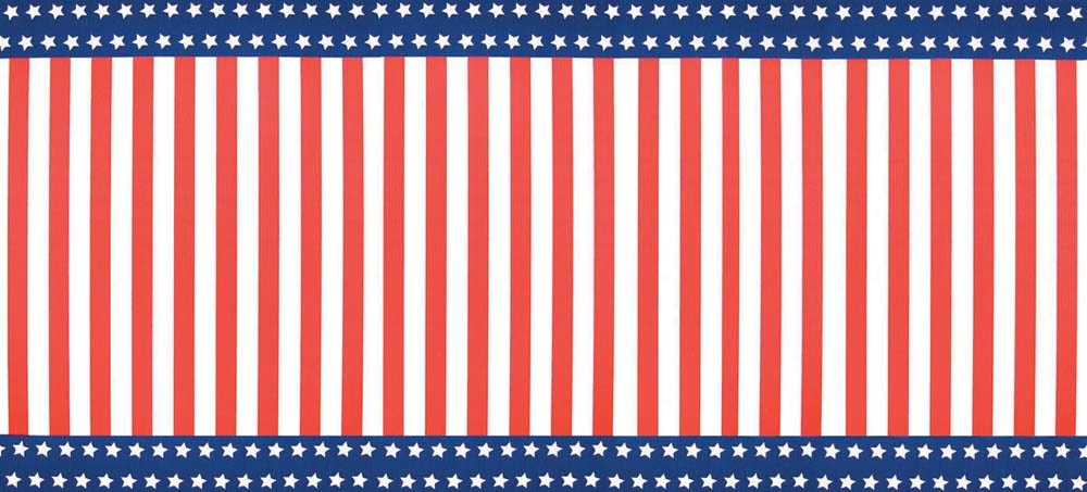 Stars and Stripes Corrugated Base Pallet Wrap
