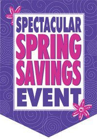 Spring Savings Sale Event Pennants
