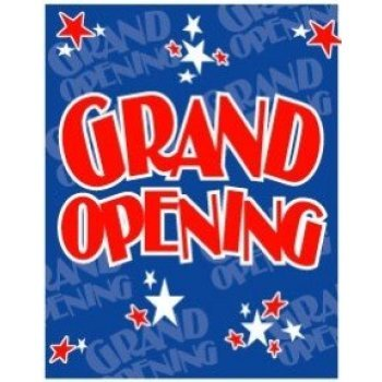 "Grand Opening- Retail Shelf Signs-Price Cards -11""X 7"""