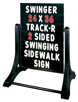 Sidewalk Sign-Swinger Standard Changeable Black Message Board
