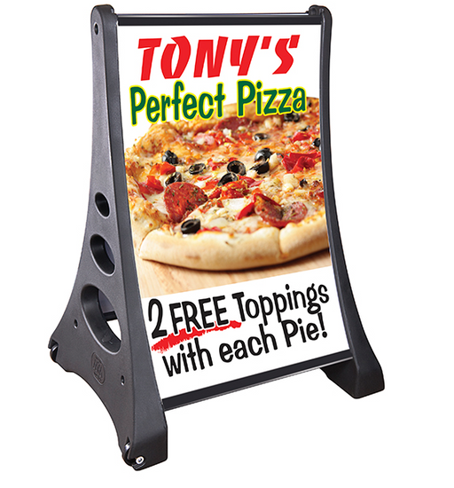 Extra Large Sidewalk Sign- Quick-Load Grip It A Frame Curb Sign