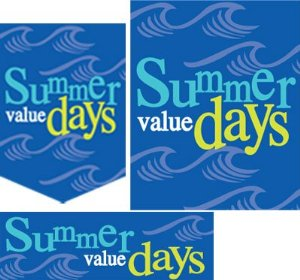 Summer Sale Retail Sale Event Sign kit-32 pieces