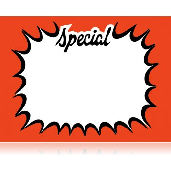 "Special Starburst Shelf Signs-14""W x 11""H-100 signs"