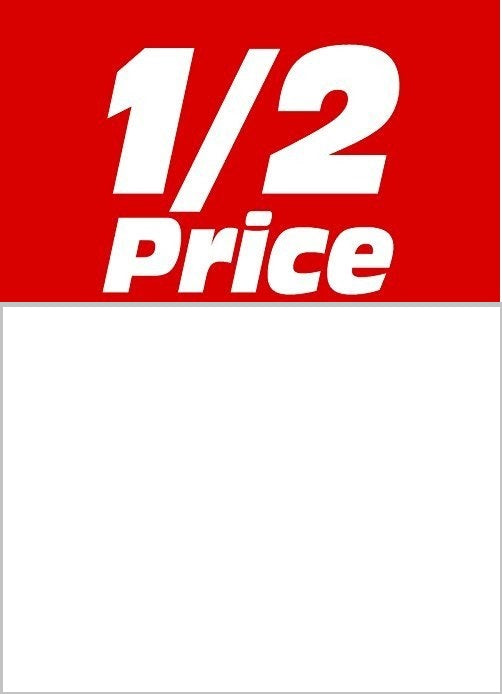 1/2 Price Sale Tags-Price Tags- 5 x 7 -100 tags