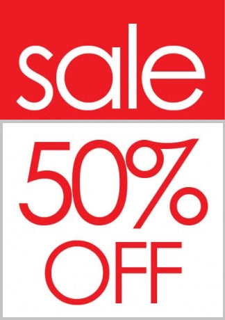 Sale 50% Off Sale Tags-Price Tags -100 pieces