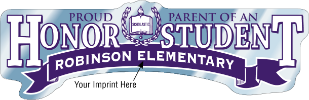 School Bumper Stickers-Custom Printed Proud Parent-125 pieces