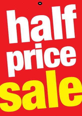 Half Price Sale Tags-Price Tags -100 tags