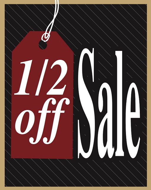 1/2 Off Sale Tags-100 price tags