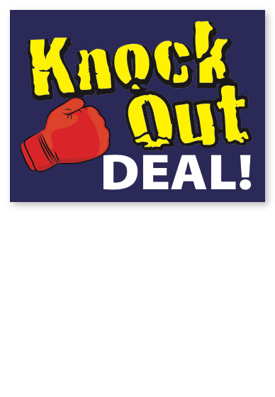 Knock Out Deal Sale Price Tags