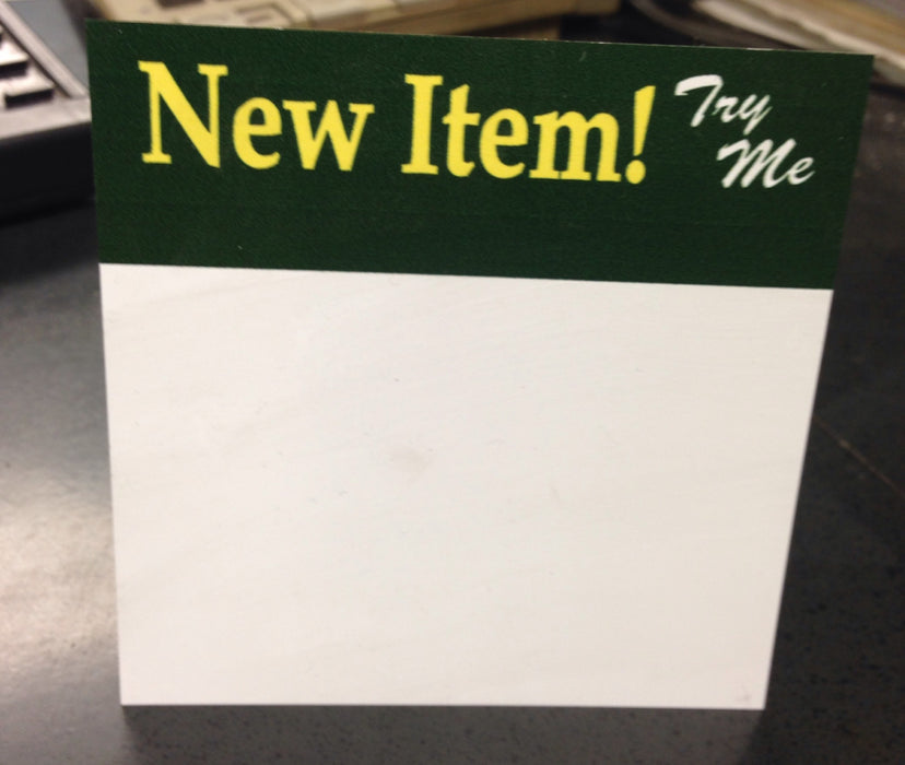 New Item Sign Topper- 25 per pack