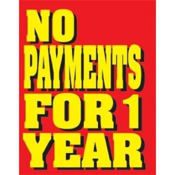 No Payments for One Year Sale Tags-Price Tags -100 tags