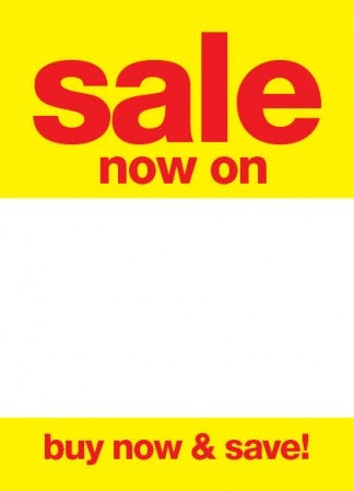 Sale Now On Sale Tags-Price Tags -5 x 7-100 pieces