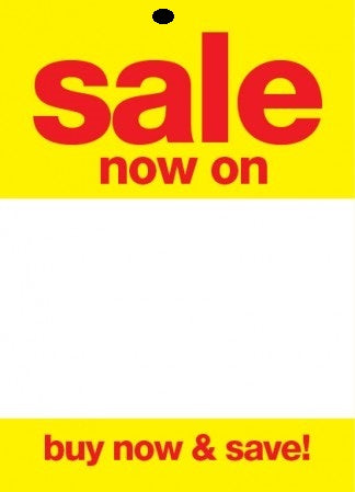 Sale Now On Sale Tags-Price Tags -3.5 x 5.5-100 pieces