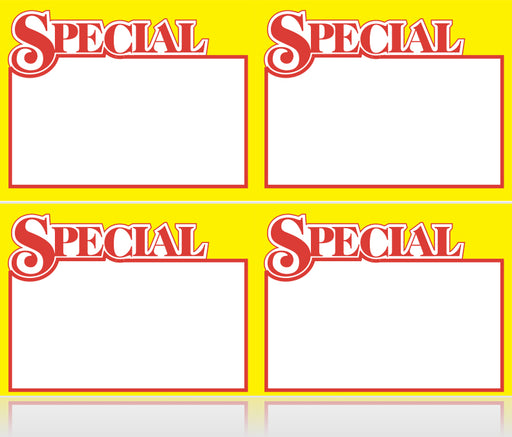 Special Shelf Signs-Laser Compatible- 4000 pieces