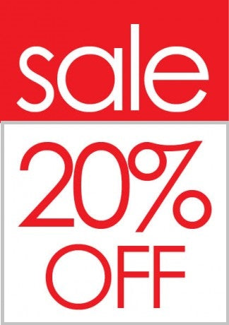 Sale 20% Off Sale Tags-Price Tags -100 pieces