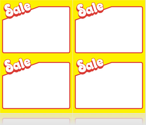 Sale Shelf Signs-Laser Compatible- 400 price signs