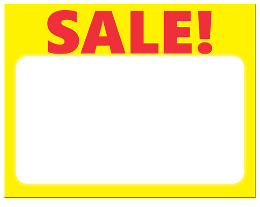Sale laser compatible shelf signs price cards