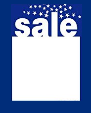Sale Tags-Price Tags Blue -5 x 7-100 pieces
