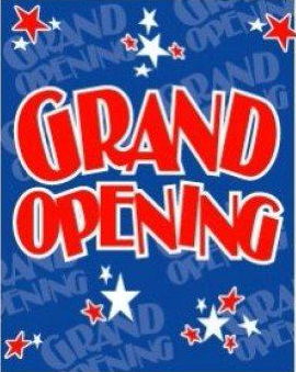 "Grand Opening Star Themed Standard Sale Event Poster- 22""W x 28""H"