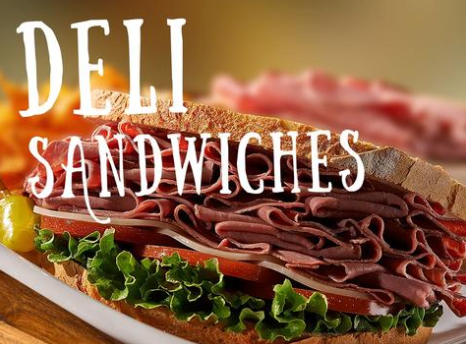 "Lawn-Yard Signs Deli Sandwiches- 24"" x 18"""