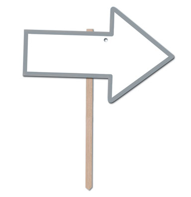 Silver Directional Arrow Lawn Signs-6 pieces