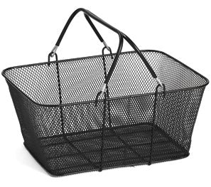 Shopping Baskets-Black Wire Mesh- 12 pieces