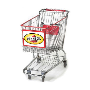 Shopping Cart Sign Red Frame