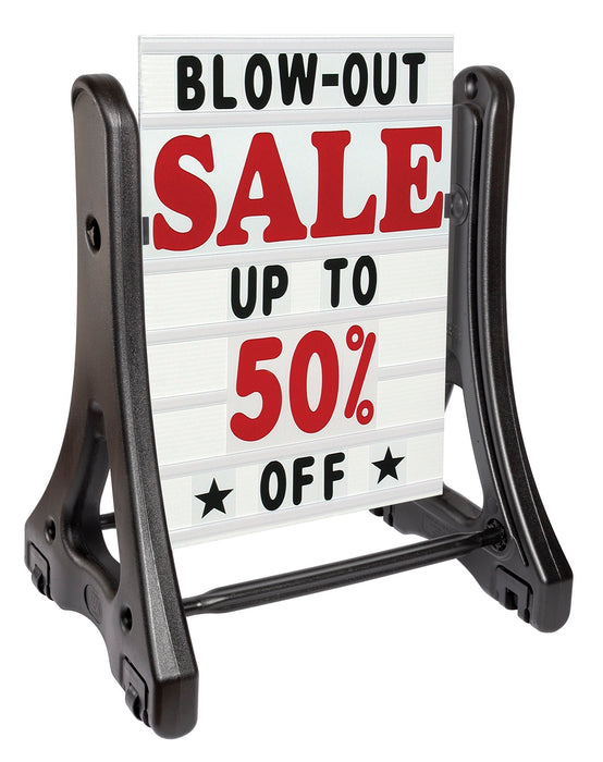 Sidewalk Sign-Swinger Deluxe Changeable White Message Board