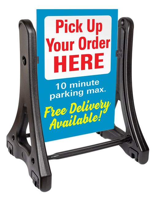 A-Frame Swinger Sidewalk Sign Ready For Graphics Sign