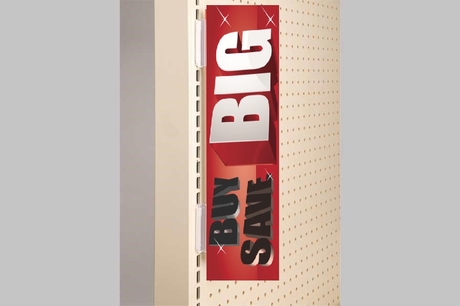 Gondola Channel Sign Holder 20 Pieces Per Pack