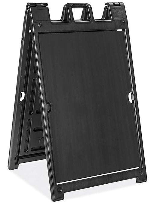 Signicade Deluxe Outdoor A Frame Sign Holder-Black
