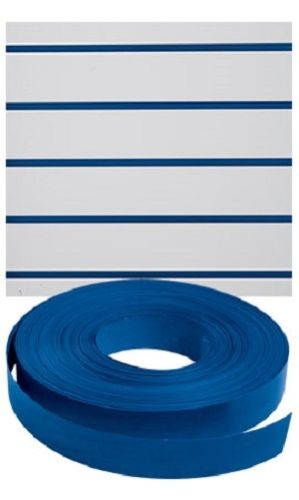 "Slatwall Decorative Vinyl Inserts-Blue Plastic Strips-1 1/4""W x 130ft"