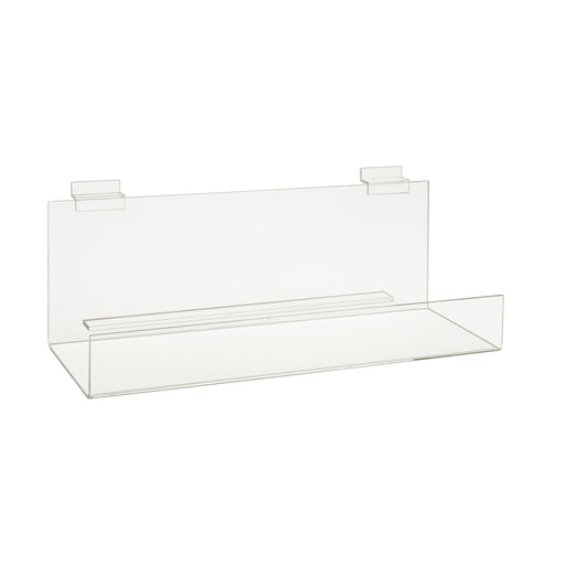"Slatwall Acrylic Shelves-2"" Lip"