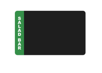 "Specialty Salad Bar Department Specific Tags - Pack of 500 - 2 1/8"" x 3 3/8"""
