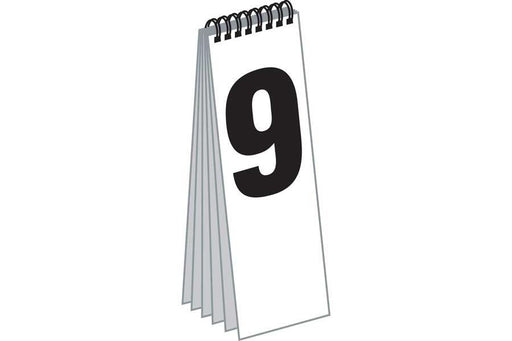 Spiral Numeral Pads for End Cap Signs- Cent Style